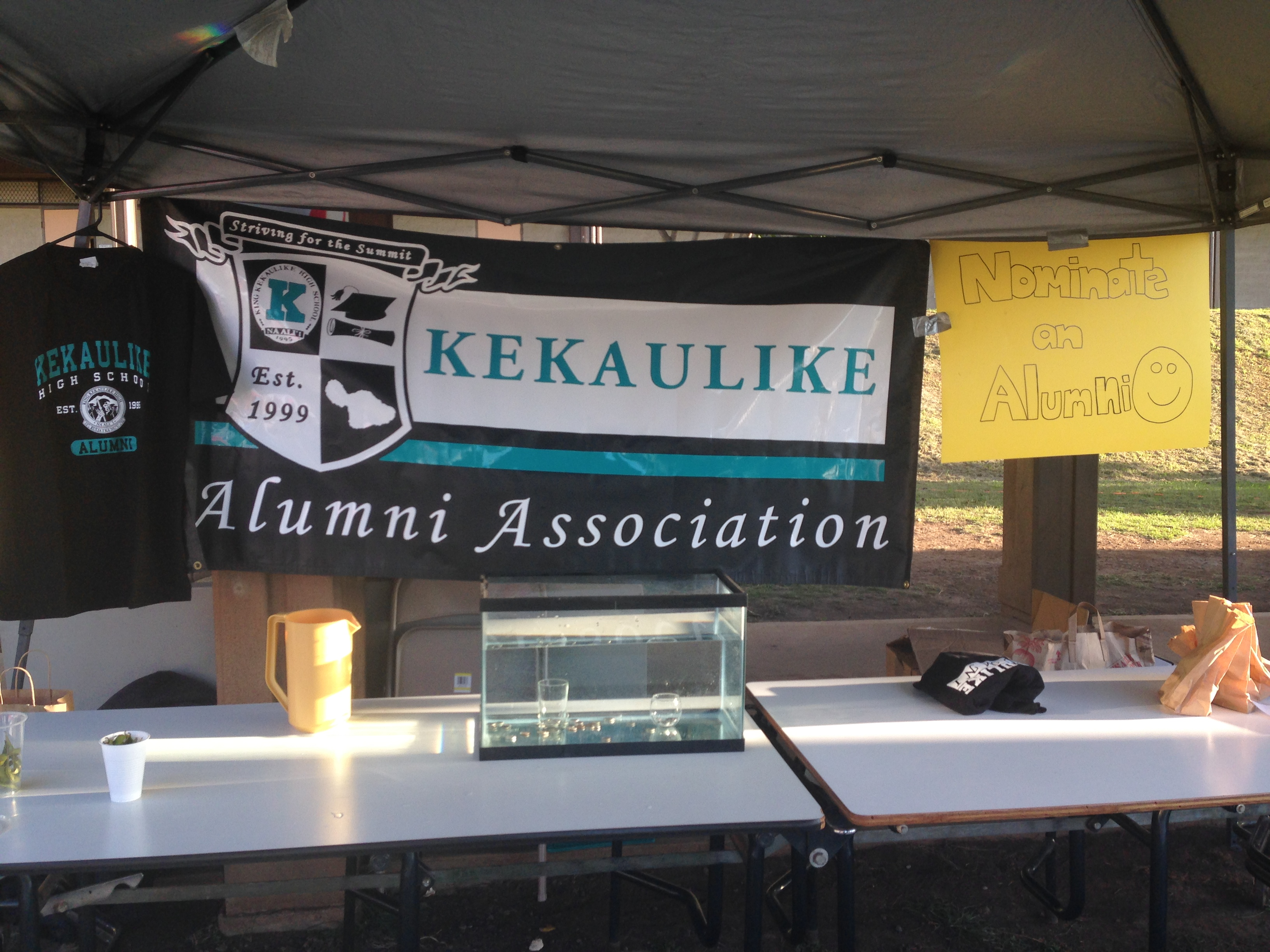 Alumni Association Booth at the Kekaulike Karnival.